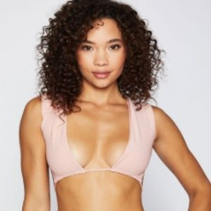 NWT Frankies Bikini's Shea Top in Vintage Rose